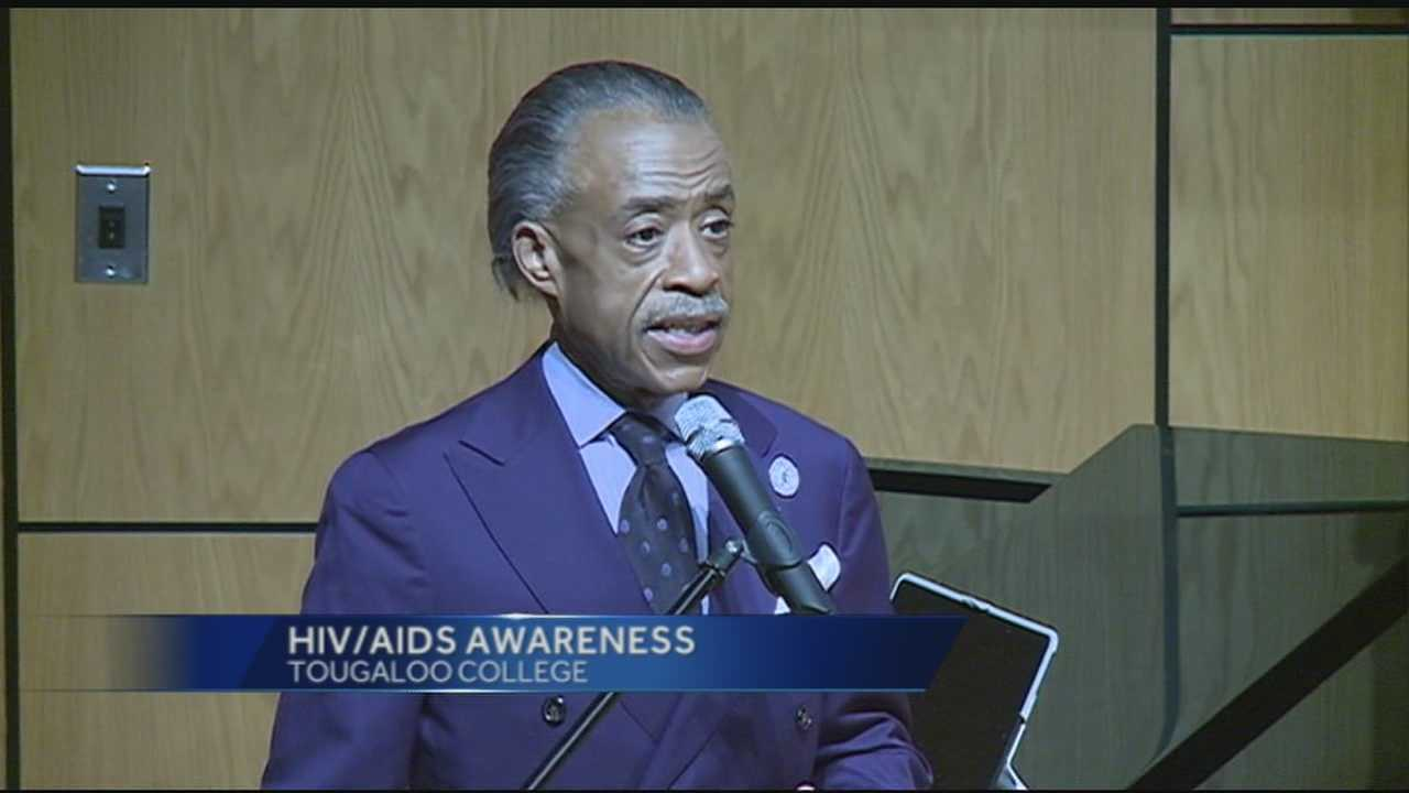 CIVIL RIGHTS ACTIVIST AND NATIONAL TV COMMENTATOR AL SHARPTON WAS IN THE METRO TONIGHT -- SPEAKING AT TOUGALOO COLLEGE.