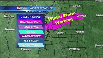 The storm could produce freezing rain and ice for areas of the state.