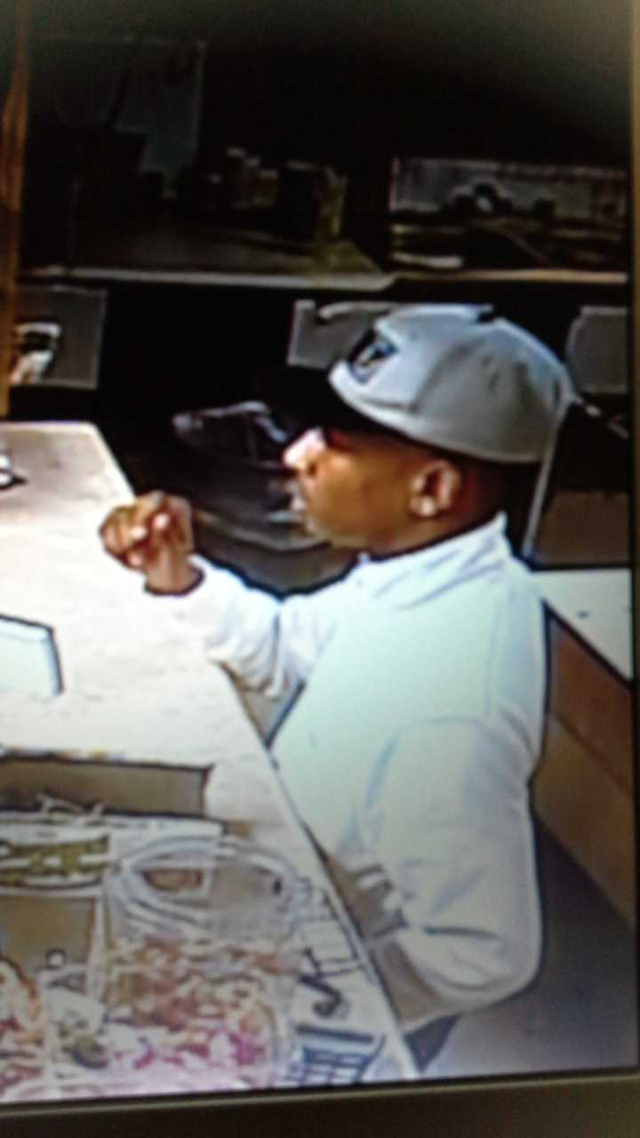 Anyone who can identify the man shown in the photos is asked to call Crime Stoppers at 601-355-TIPS.