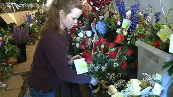 Area florists are working long hours for Valentine's Day.