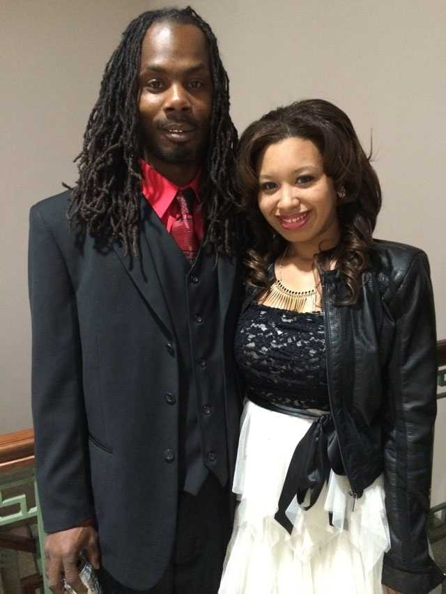 Kenneth Thomas and Roseanna Demby tied the knot on Valentine's Day.