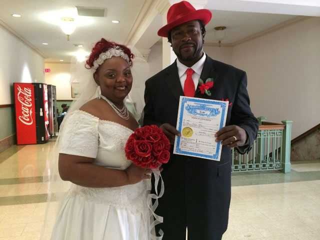 Presenting Eugene Ford Jr., and his new wife Rhoda.
