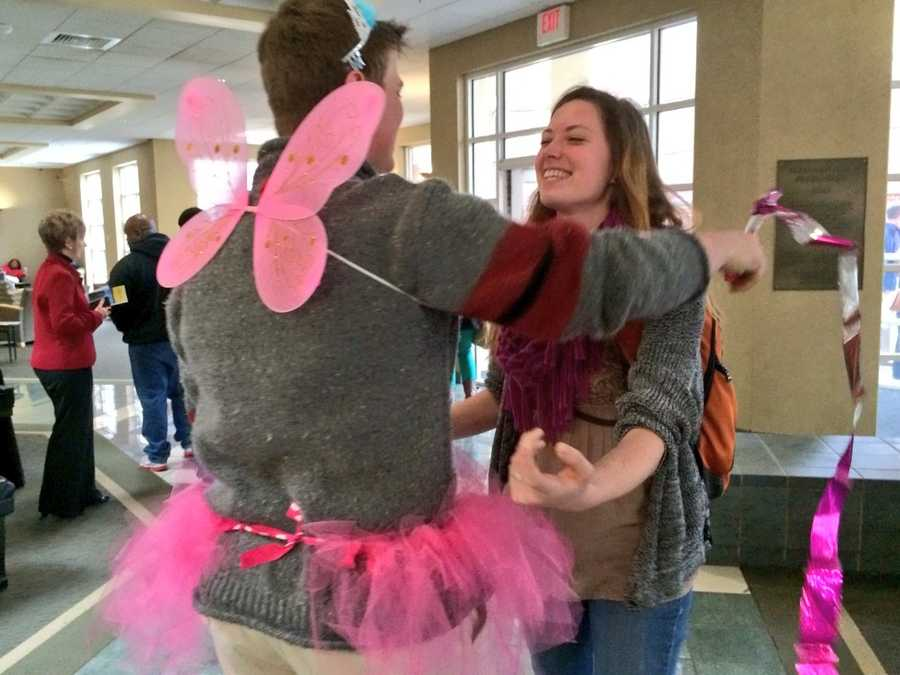 Andrew, the singing cupid, surprised many Friday with a Valentine message.