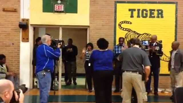 Tracee Thompson was surprised when her name was called as the winner of the Milken Educator Award.