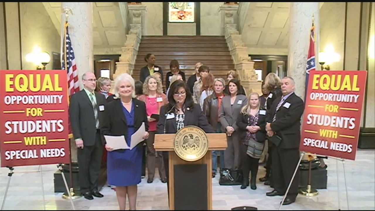 A fight at the state capital over special needs students, and where they can go to school with public tax dollars.