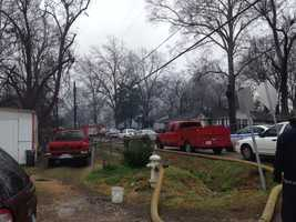 Jackson firefighters respond to a house fire on Hollywood Avenue.