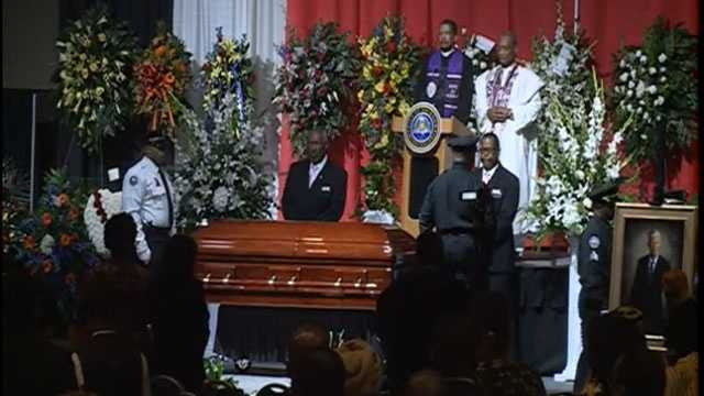 Hundreds of mourners attend the Celebration of Life service at the Jackson Convention Complex for Mayor Chokwe Lumumba.