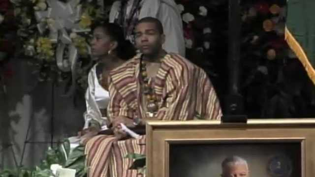 Mayor Chokwe Lumumba's children eulogized their father.