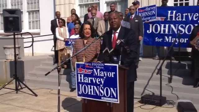 Former Jackson Mayor Harvey Johnson was the first to announce his candidacy.