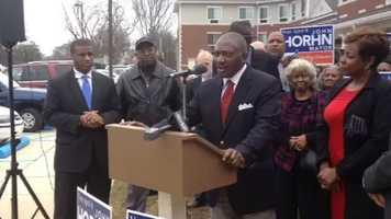 State Sen. John Horhn announces that he is running for Jackson mayor.