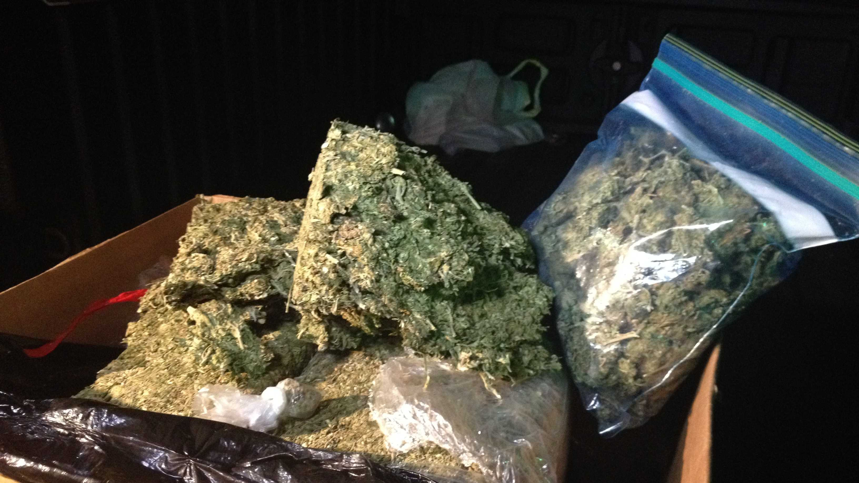 The Hinds County sheriff seizes 25 pounds of marijuana and makes four arrests in a drug bust.