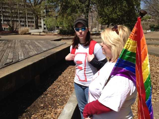 Advocacy groups sponsored the LGBT Rally for Protection at Smith Park in Jackson.