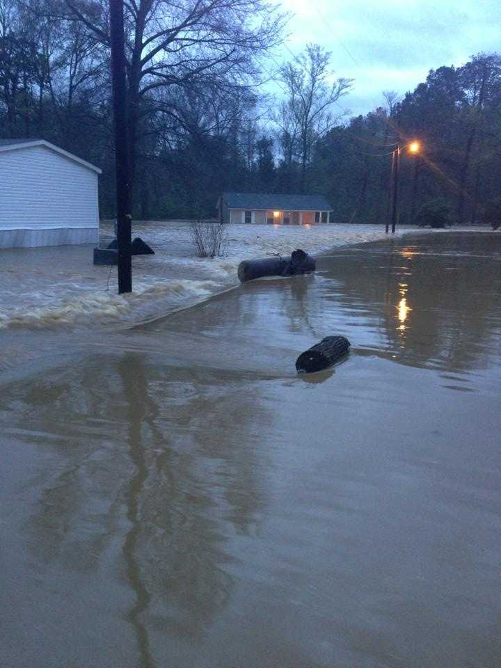 MEMA officials say a business and publicly-owned structure were flooded in Amite County. More than 40 homes, 16 apartments and a police car had flood damage in Wilkinson County.