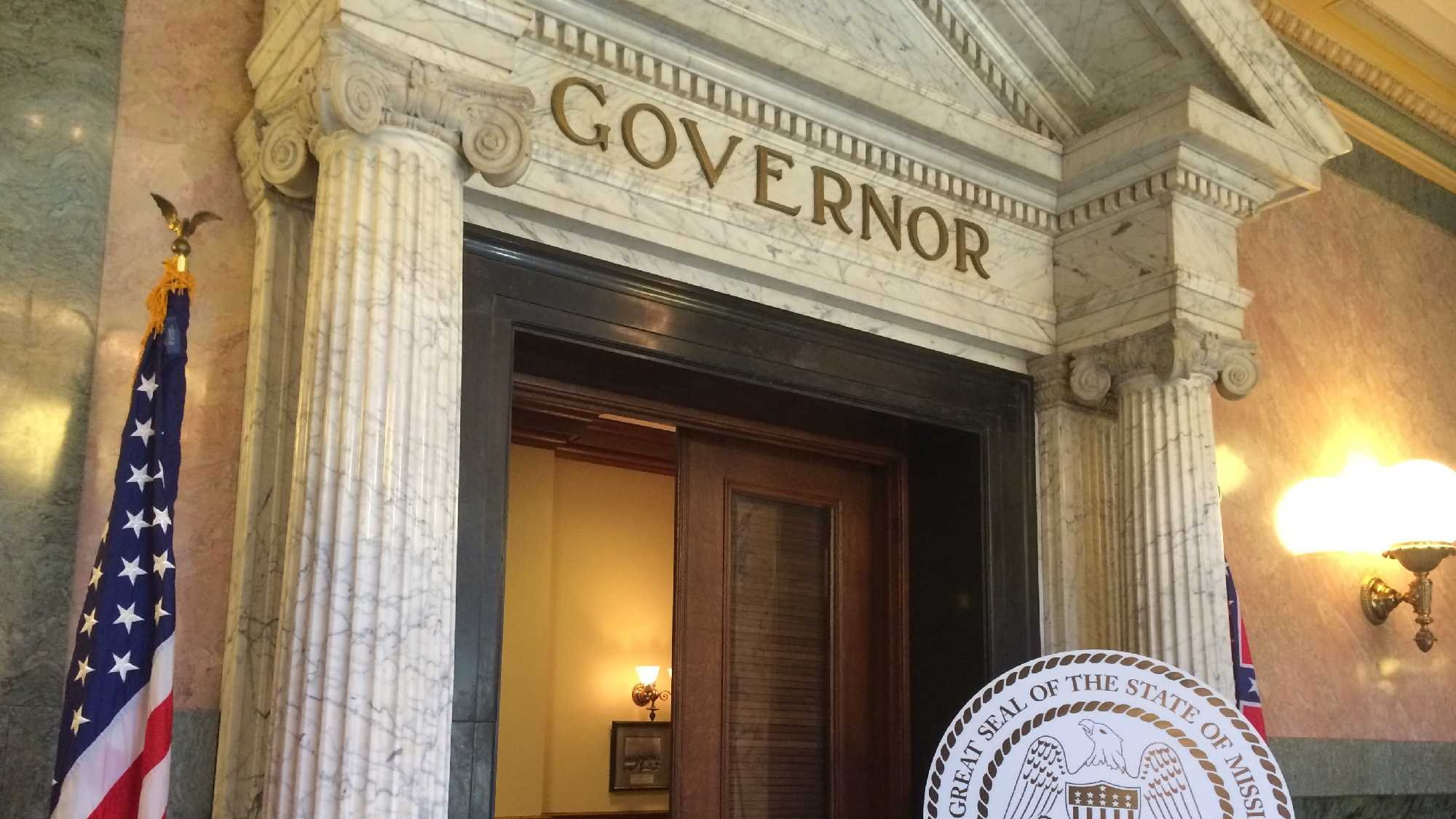 governor's office with state seal