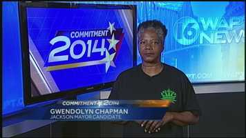No. 2: Candidate for Jackson mayor Gwendolyn Chapman in her own words. Click here to watch the video.