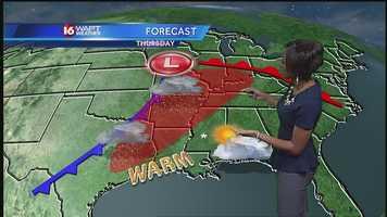 Better rain chances arrive Thursday.