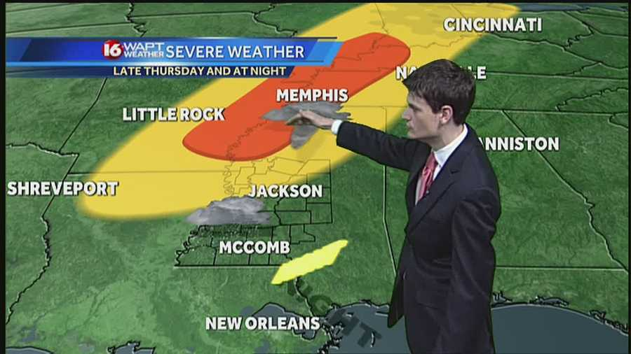 16 WAPT meteorologist Adam McWilliams shows us when and where the storm will hit.