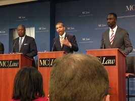 Harvey Johnson Jr., Chokwe Antar Lumumba and Tony Yarber.