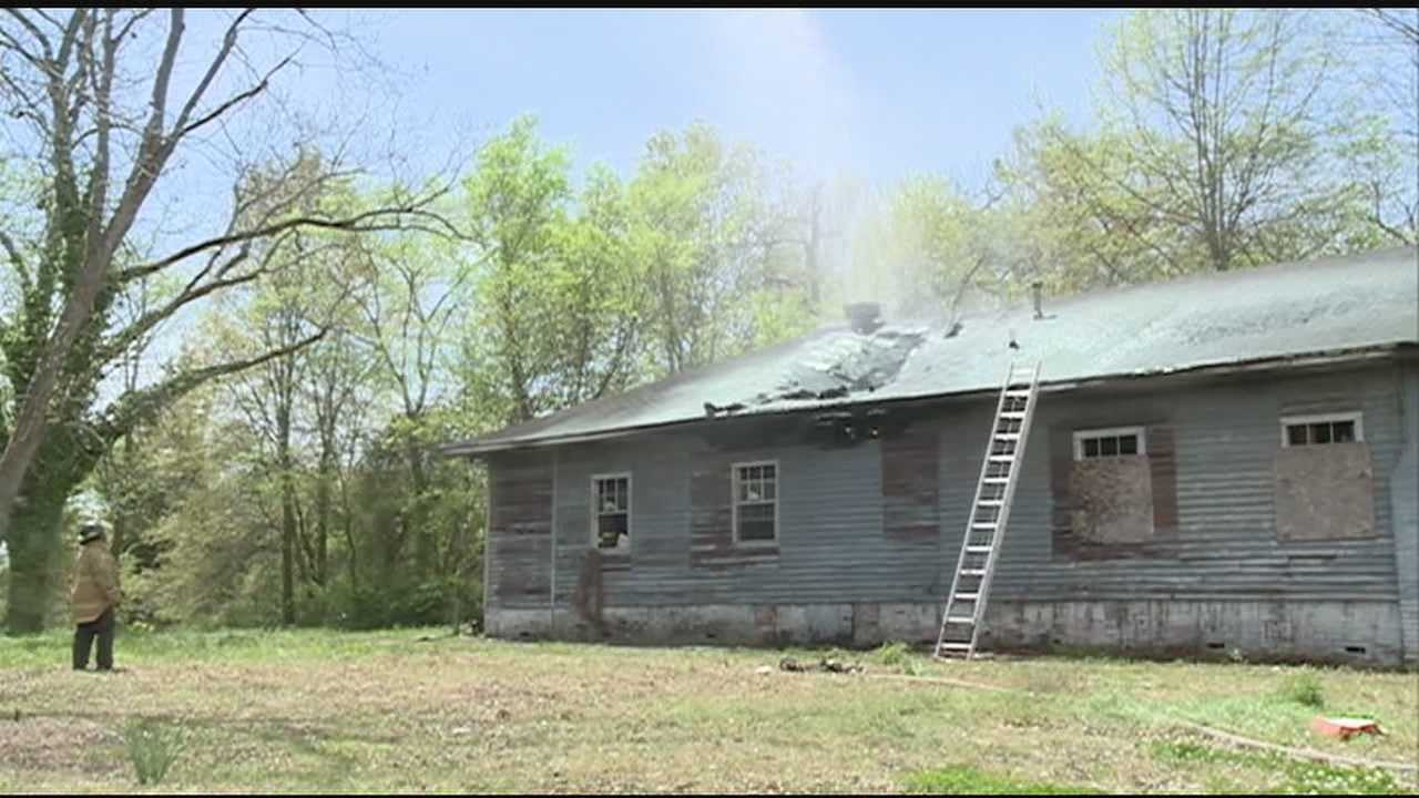 A dozen firefighters and at least four trucks needed to get a fire under control at an abandoned house on Central Streetin Jackson.