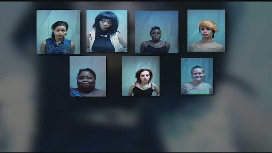 Pearl police arrested seven women on prostitution charges during an undercover operation.