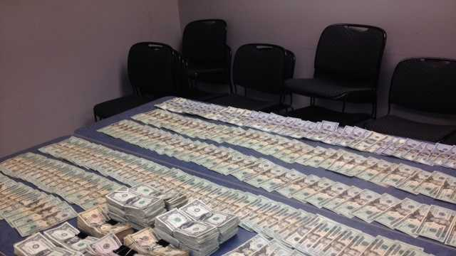 JPD confiscates $20,000 in cash.