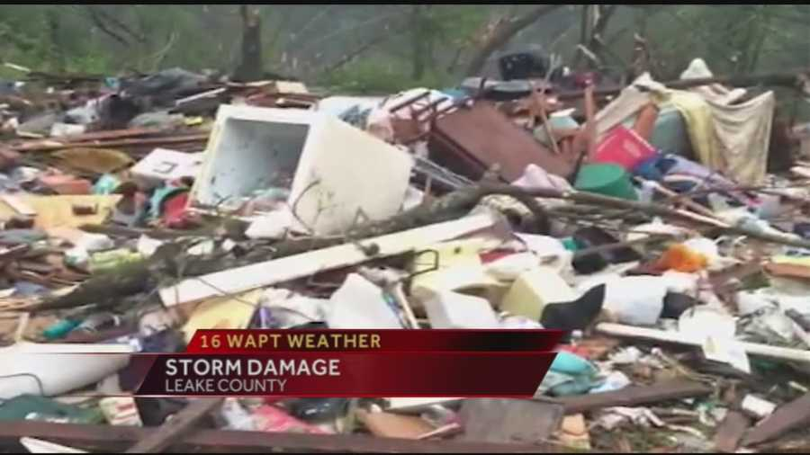 No. 10: A tornado rips through Leake County destroying homes in its path. Click here for video.