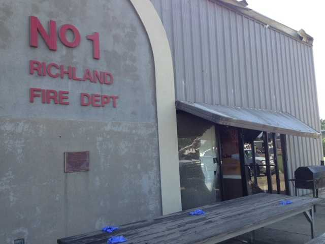 The Richland fire station sustained damage.
