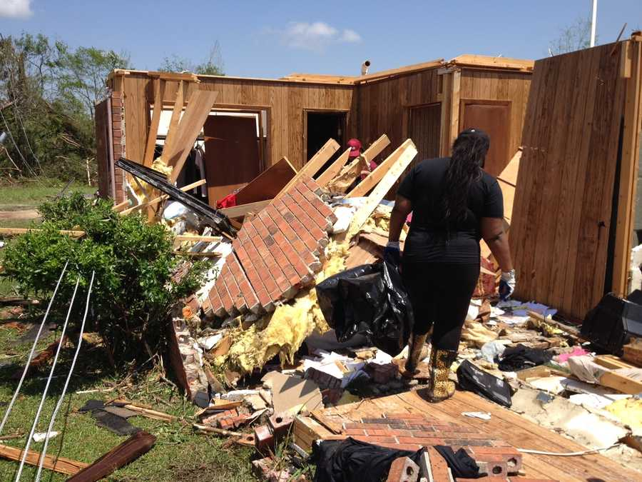 Storm damage in Louisville.
