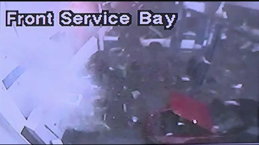 No. 15: Tornado caught by surveillance cameras. Click here for video.