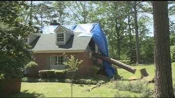 Tornado damage in Brandon.