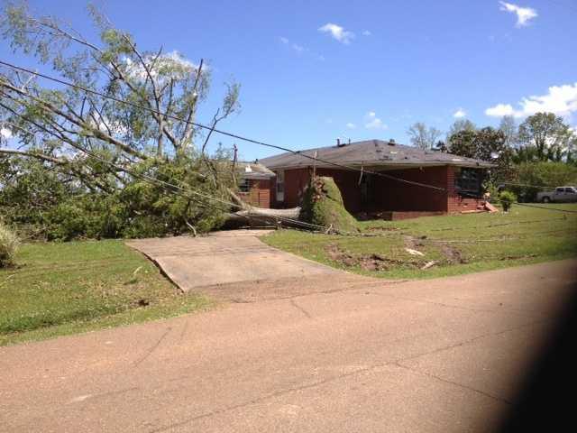 Tornado damage in Louisville.