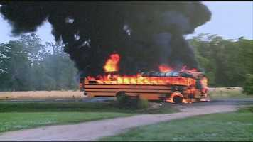 No. 13: A 16 WAPT viewer captures video of a Claiborne County school bus on fire. Click here to watch the video.
