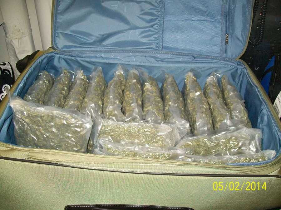 The TSA says 81 pounds of marijuana was found in checked luggage belonging to a woman who was flying to Jackson.
