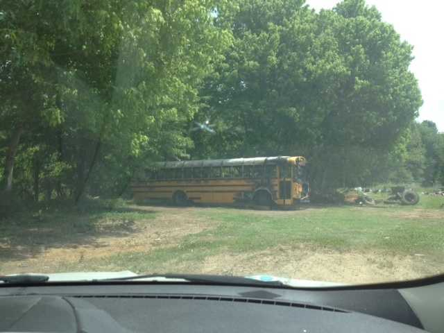 The bus was carrying students back to Claiborne County. The students had taken a state test.