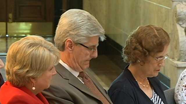 First lady Deborah Bryant and Gov. Phil Bryant at a ceremony for National Day of Prayer.