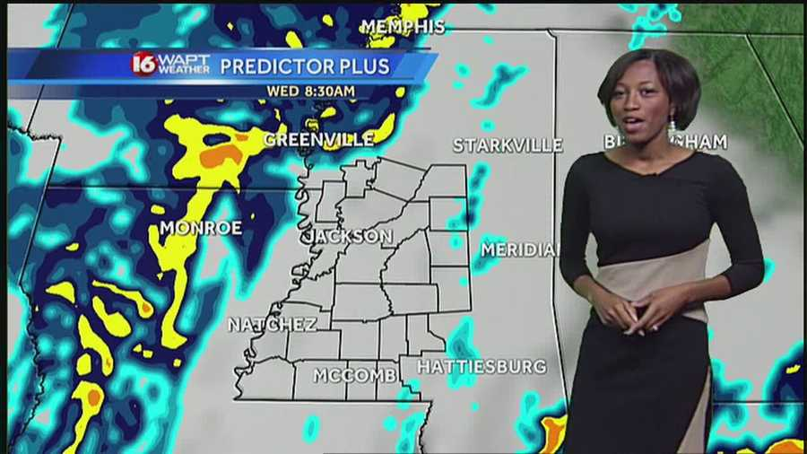 A cold front will push through Wednesday, says 16 WAPT meteorologist Brittany Bell.