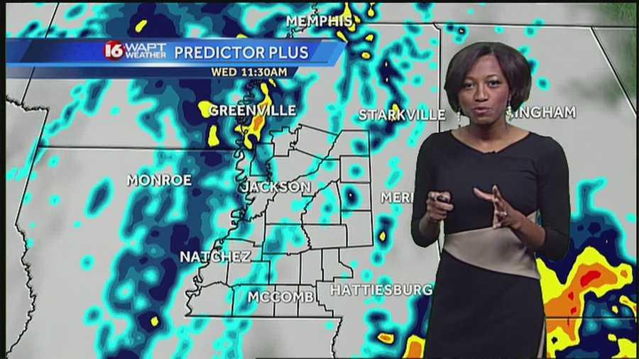 Heavier rain will move through Wednesday afternoon.