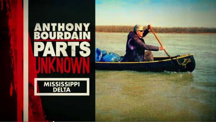 Anthony Bourdain on the Mississippi River