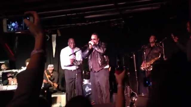 Dan Aykroyd performs with Craig Robinson and the James Brown Movie Band at Hal & Mal's in January.
