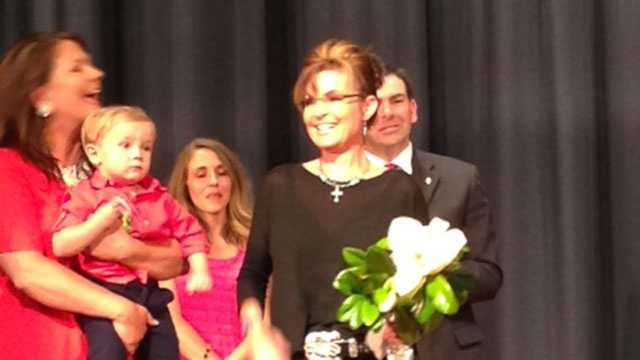 Sarah Palin campaigns for Chris McDaniel in the Mississippi race for U.S. Senate.