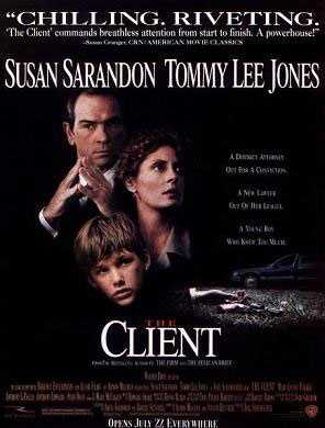 """The Client,"" based on the novel of the same name by John Grisham, was filmed in Clinton, Memphis and New Orleans."