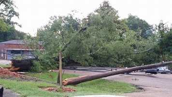 Storm damage in Brookhaven.