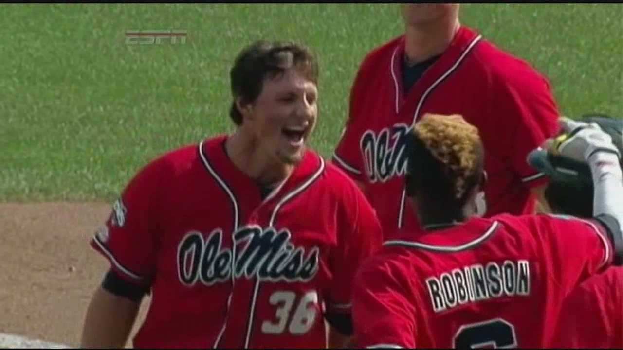 Ole Miss defeats Texas Tech 2-1 in an elimination game of the College World Series on Tuesday afternoon.