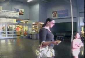 Anyone who can identify the women shown in the surveillance photos is asked to call Crime Stoppers at 601-355-TIPS.