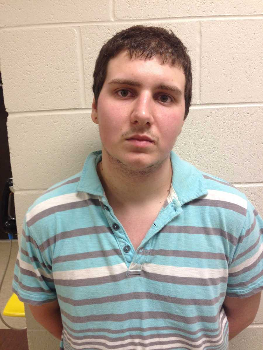 Thomas Eubanks, 21, is charged with possession of child porn.