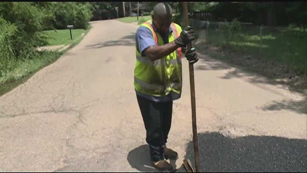 The city of Jackson already filled nearly one thousand potholes--- with about two more thousand to go.