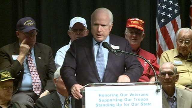 U.S. Sen. John McCain campaigns for U.S. Sen. Thad Cochran in Jackson.