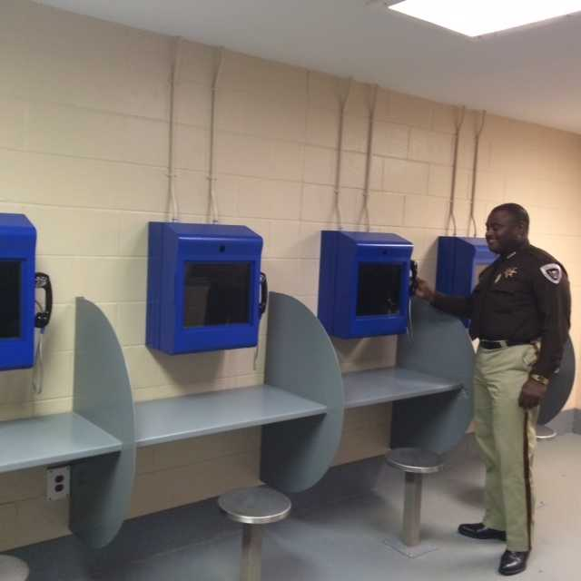 The sheriff showed off a new video visitation center and a new computer systems to monitor inmates.