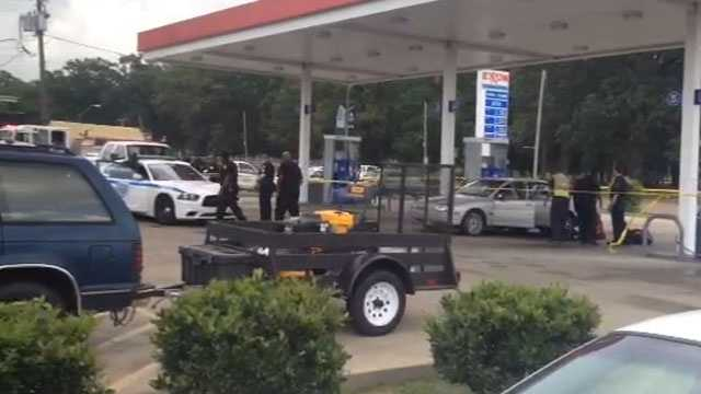 A man was shot and killed at a Jackson gas station.