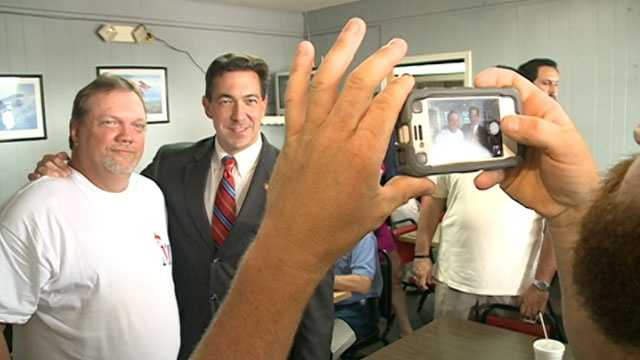 Chris McDaniel meets with voters in Meridian.